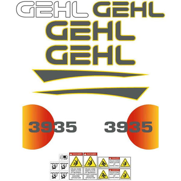 Gehl 3935 Decals Stickers Set