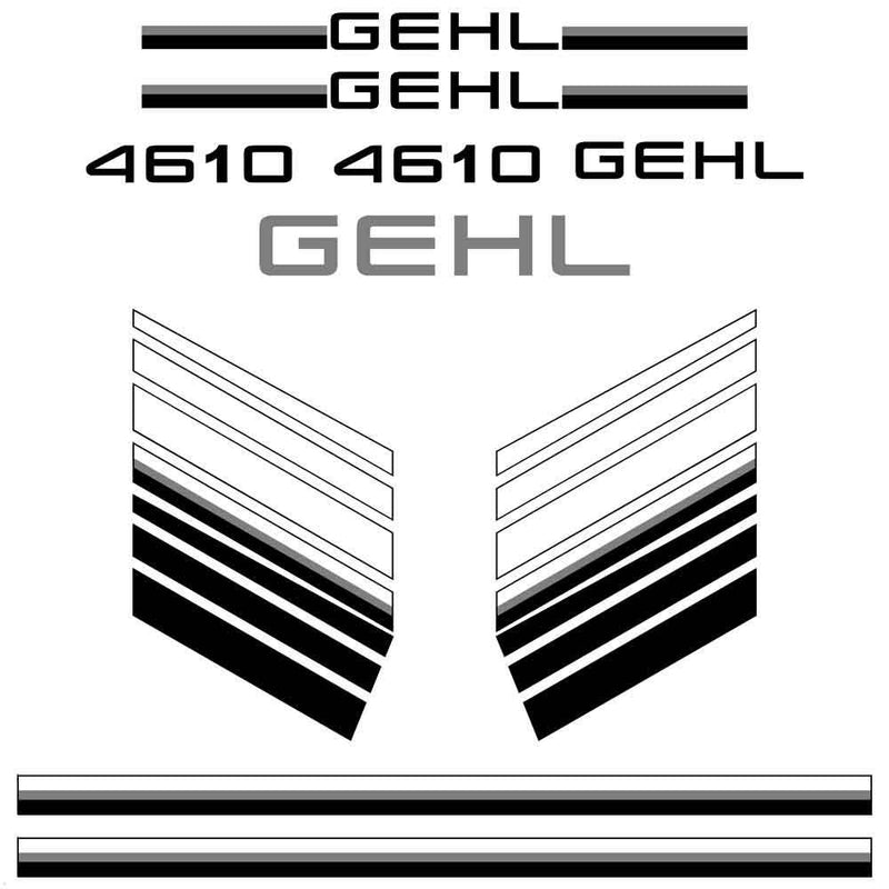 Gehl 4610 Decals Stickers Set