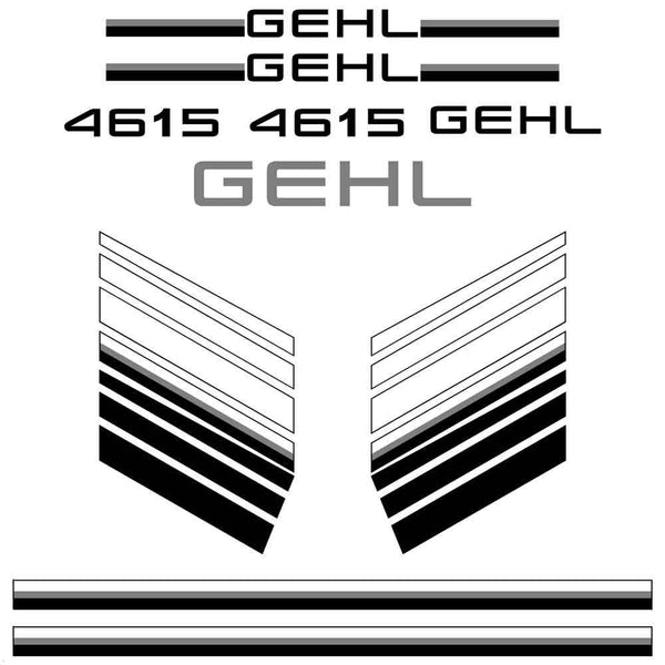 Gehl 4615 Decals Stickers Set