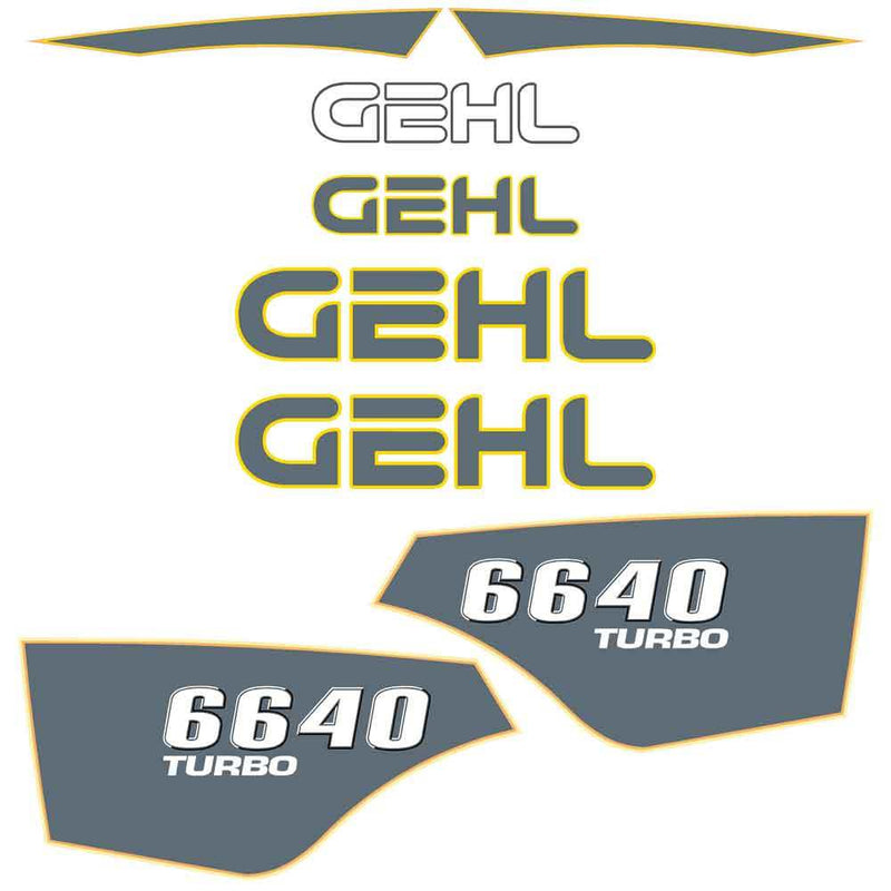 Gehl 6640 Decal Sticker Set