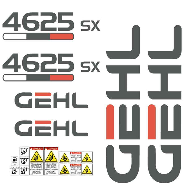 Gehl 4625 SX Decal Sticker Set