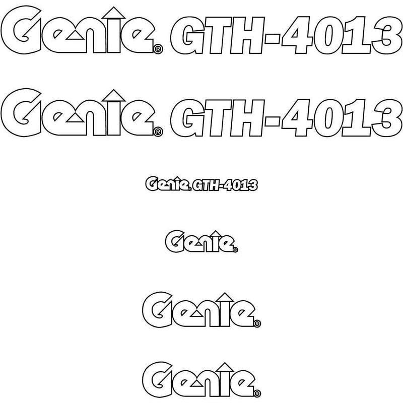 Genie GTH4013 Decals Stickers