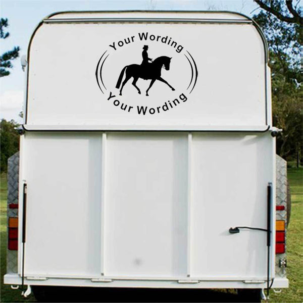 Dressage Horse Float Decal