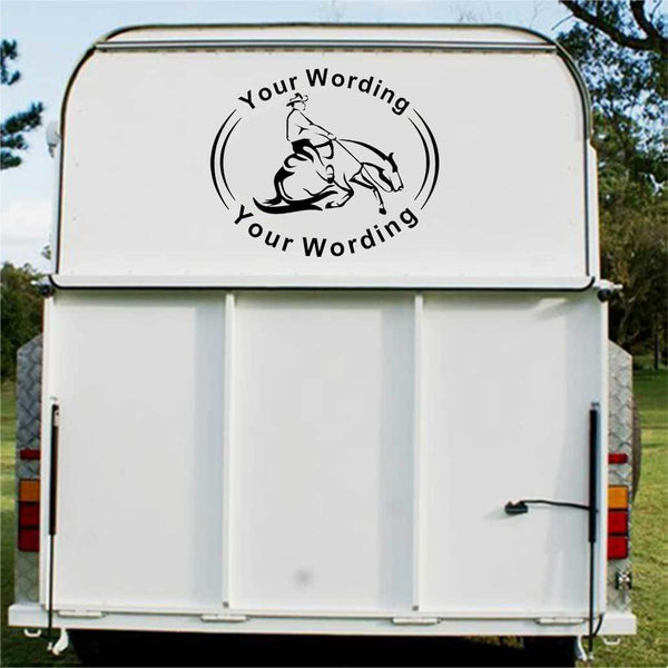 Reining Horse Float Decal