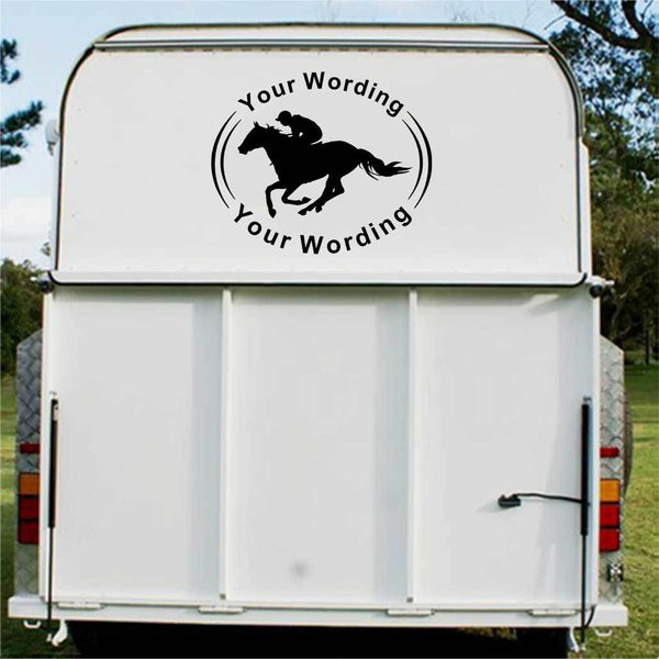 Racing Horse Float Decal