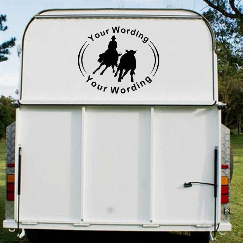 Roping Horse Float Decal