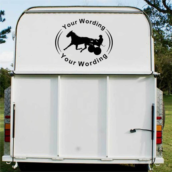 Trap Racing Horse Float Decal