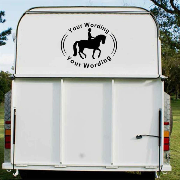 Dressage Single Rein Horse Float Decal
