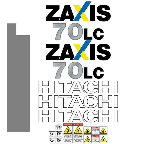Hitachi ZX70LC-3 Decal Sticker Set