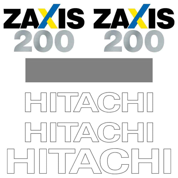 Hitachi ZX200-3 LC Decal Sticker Set