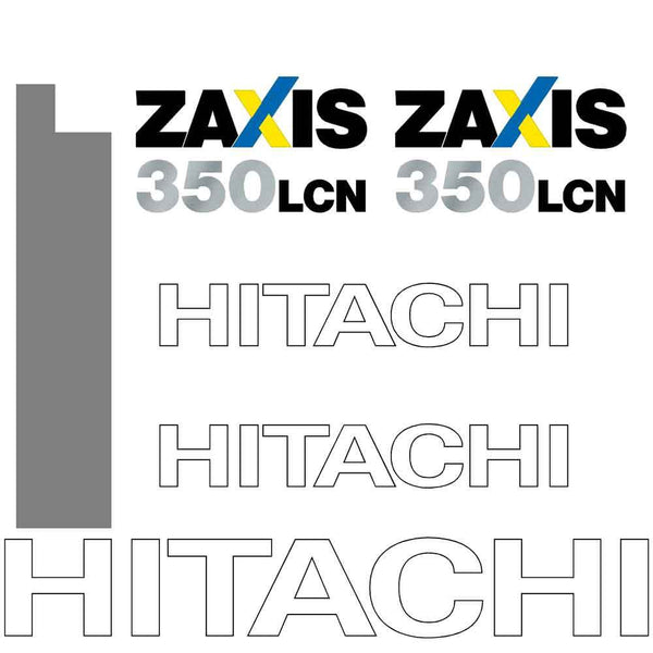 Hitachi ZX350LCN Decal Sticker Set