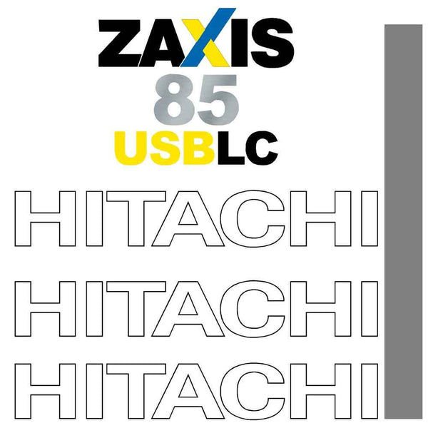 Hitachi ZX85USB LC - 3 Decals Stickers Set