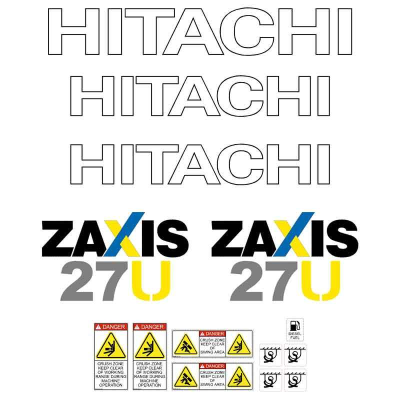 Hitachi ZX27U-3 Decal Sticker Set