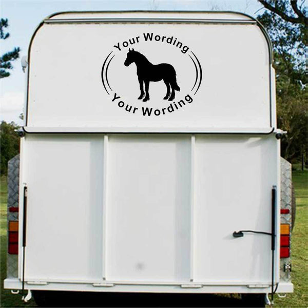 Clydesdale Horse Float Decal