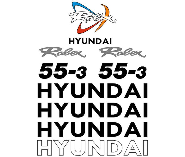 Hyundai R 55-3 Decals Stickers