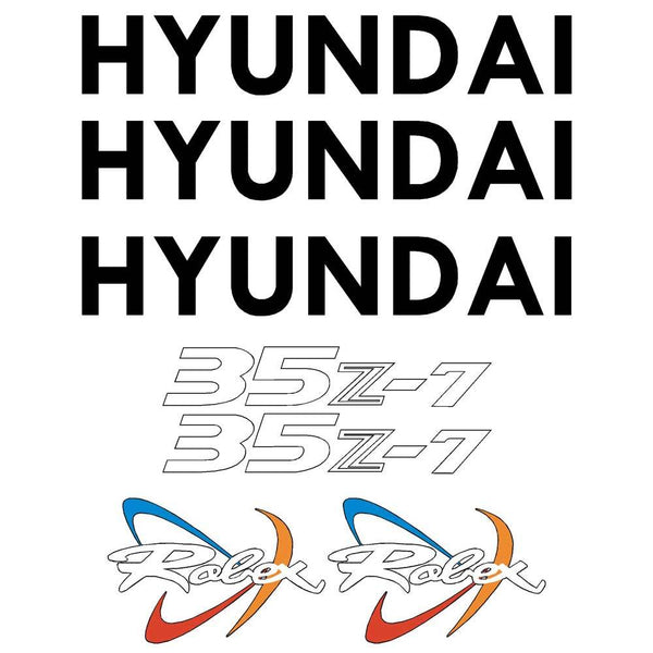 Hyundai R35Z-7 Decals Stickers