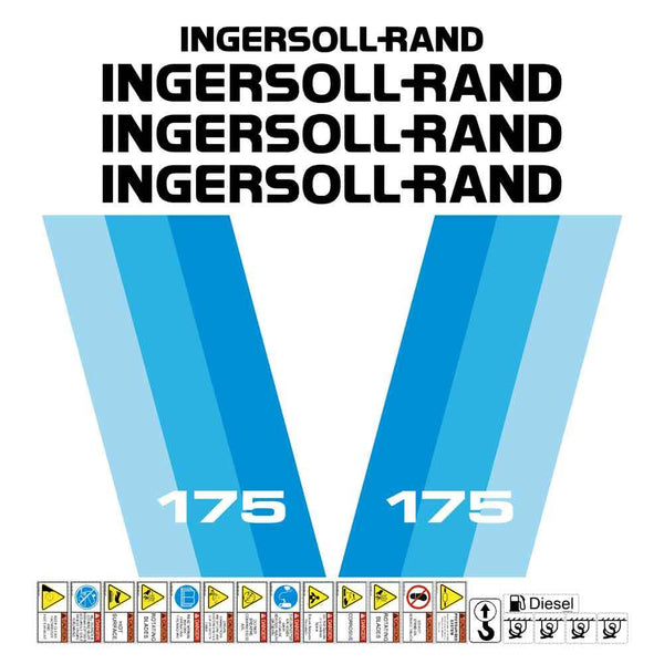 Ingersoll Rand IR P175 Decals Stickers