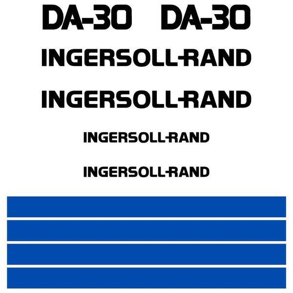 Ingersoll Rand DA30 Decals Stickers