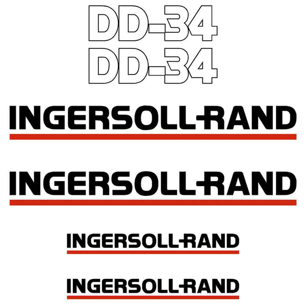 Ingersoll Rand DD34 Decal Sticker Set