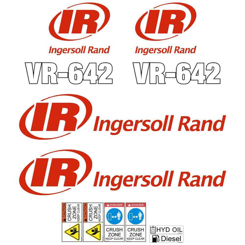 Ingersoll Rand VR642 Decals Stickers