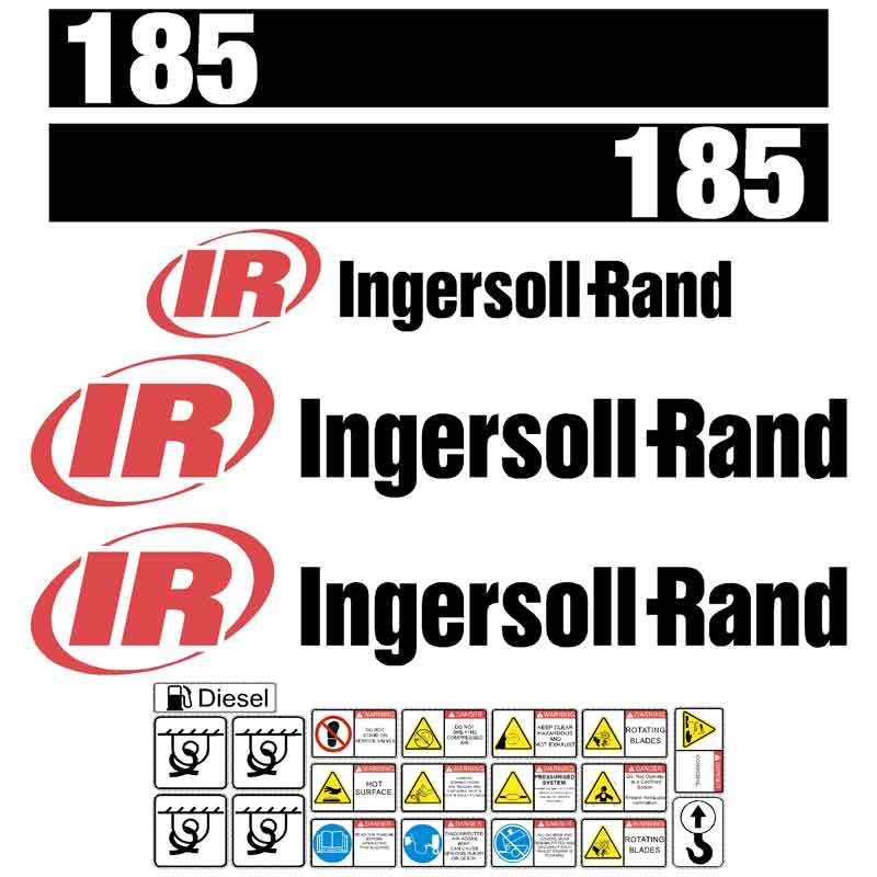 Ingersoll Rand 185 Compressor Decals Stickers