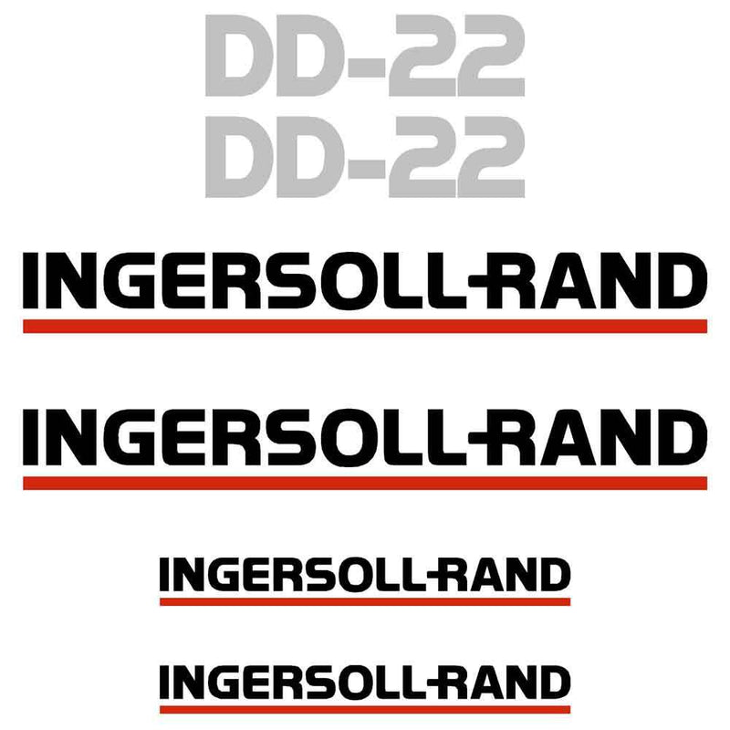 Ingersoll Rand DD22 Decal Sticker Set