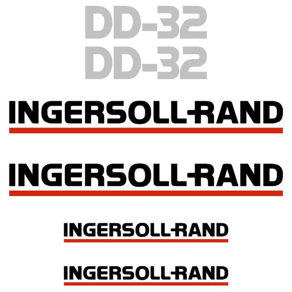 Ingersoll Rand DD32 Decal Sticker Set