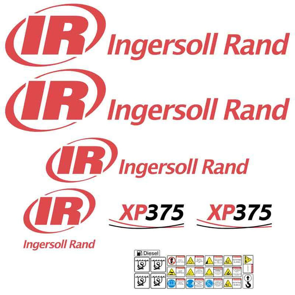 Ingersoll Rand IR XP375 Decals Stickers
