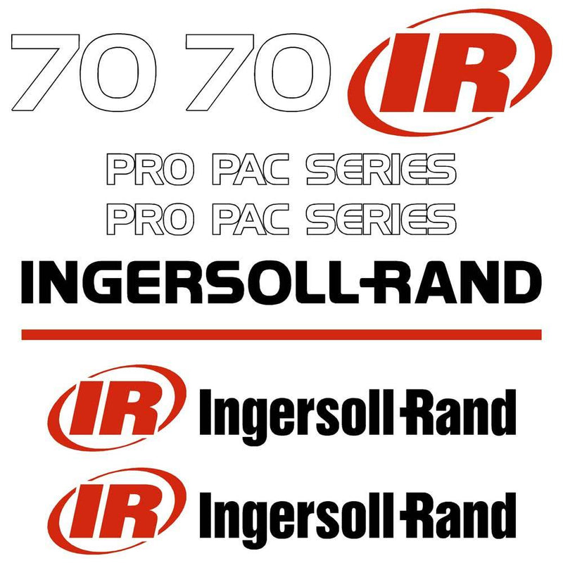 Ingersoll Rand SD70D Decal Sticker Set