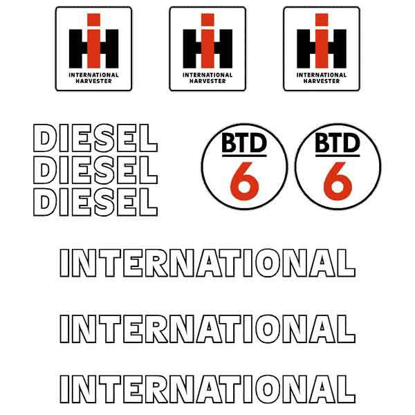 International BTD6 Drott Decal Sticker Set