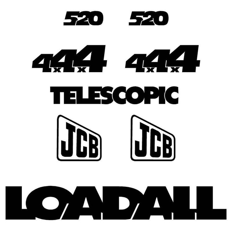 JCB 520 Decals Stickers Set