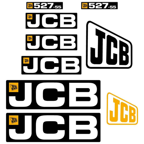 JCB 527-55 Decals Stickers Set