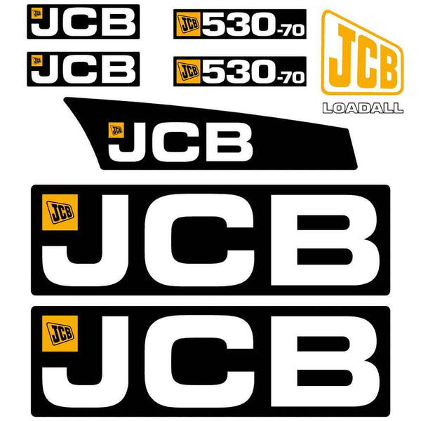 JCB 530-70 Decals Stickers Set