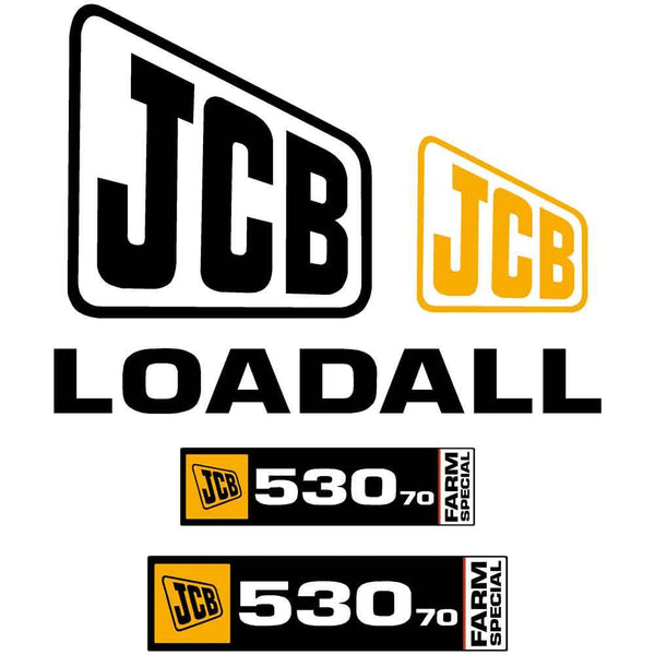 JCB 530-70 Farm Special Decals Stickers Set