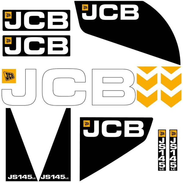 JCB JS145 LC Decals Stickers Set