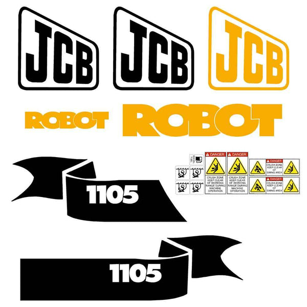 JCB Robot 1105 Decal Sticker Set