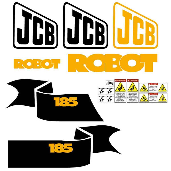 JCB Robot 185 Decal Sticker Set