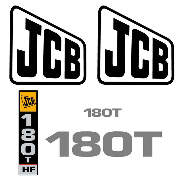 JCB 180T Decal Sticker Set