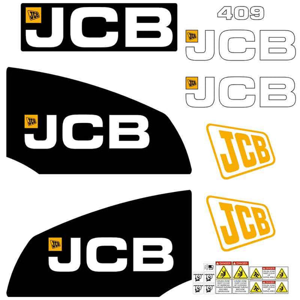 JCB 409B Decals Stickers Set