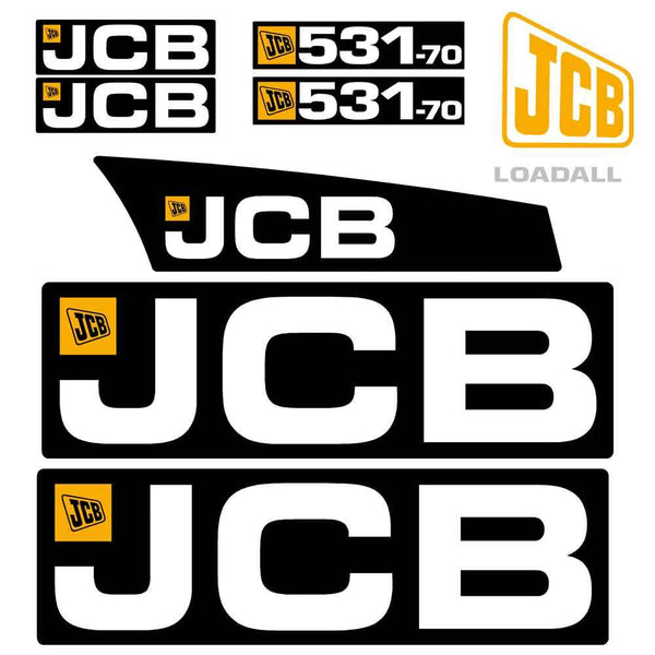 JCB 531-70 Decals Stickers Set