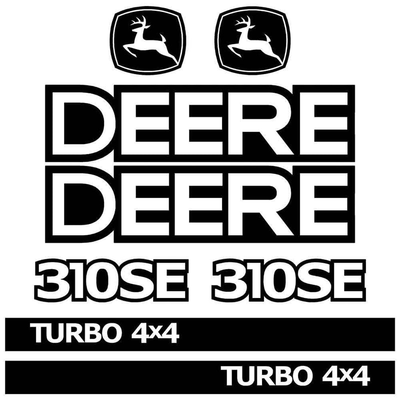 John Deere 310SE Decals Stickers Kit