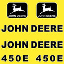 John Deere 450E Decal Sticker Set