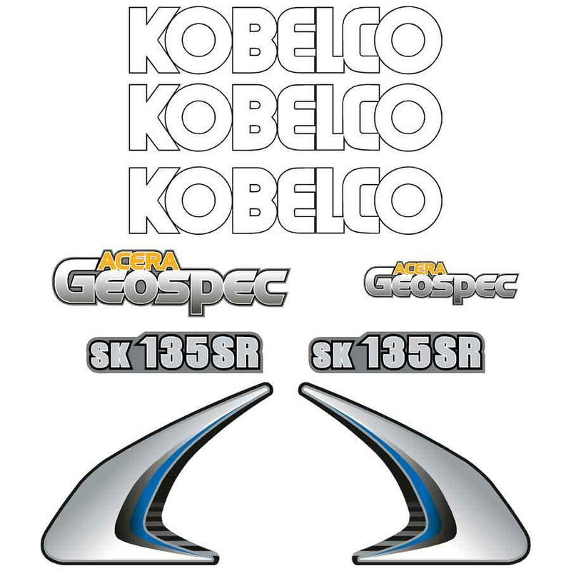 Kobelco SK135SR-2 Decals Stickers Set