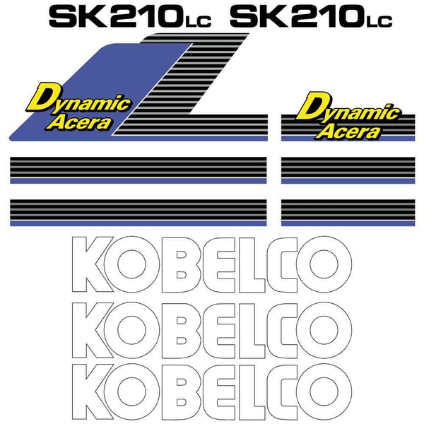 Kobelco SK210LC Dynamic Acera Decals Stickers