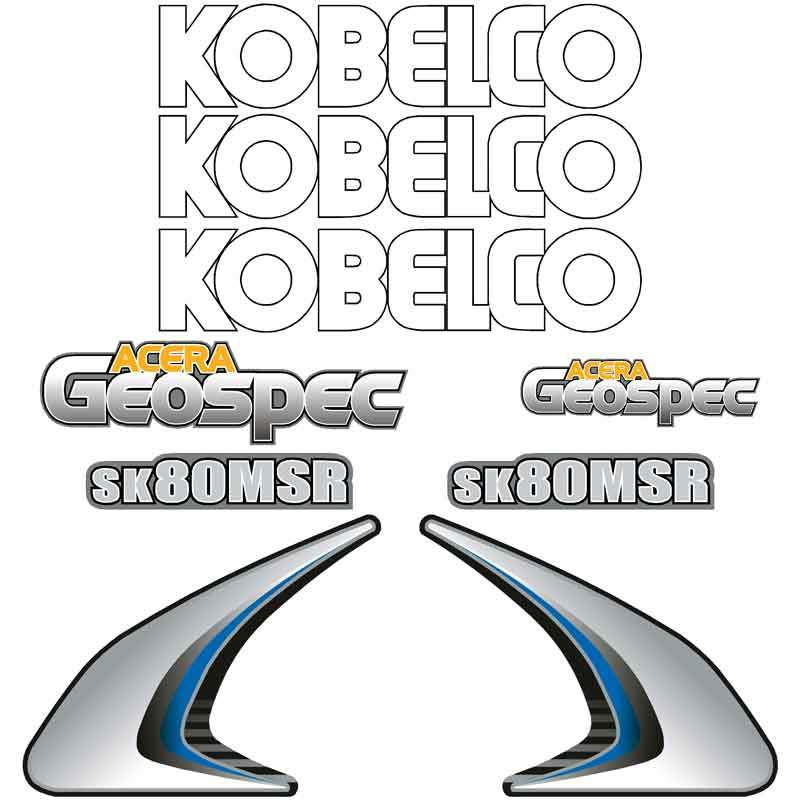 Kobelco SK80MSR-2 Decals Stickers Set