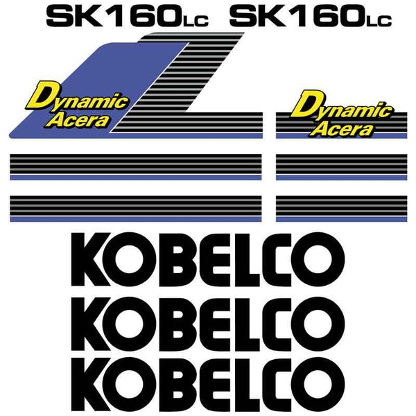 Kobelco SK160LC Dynamic Acera Decals Stickers