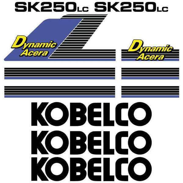 Kobelco SK250LC Dynamic Acera Decals Stickers