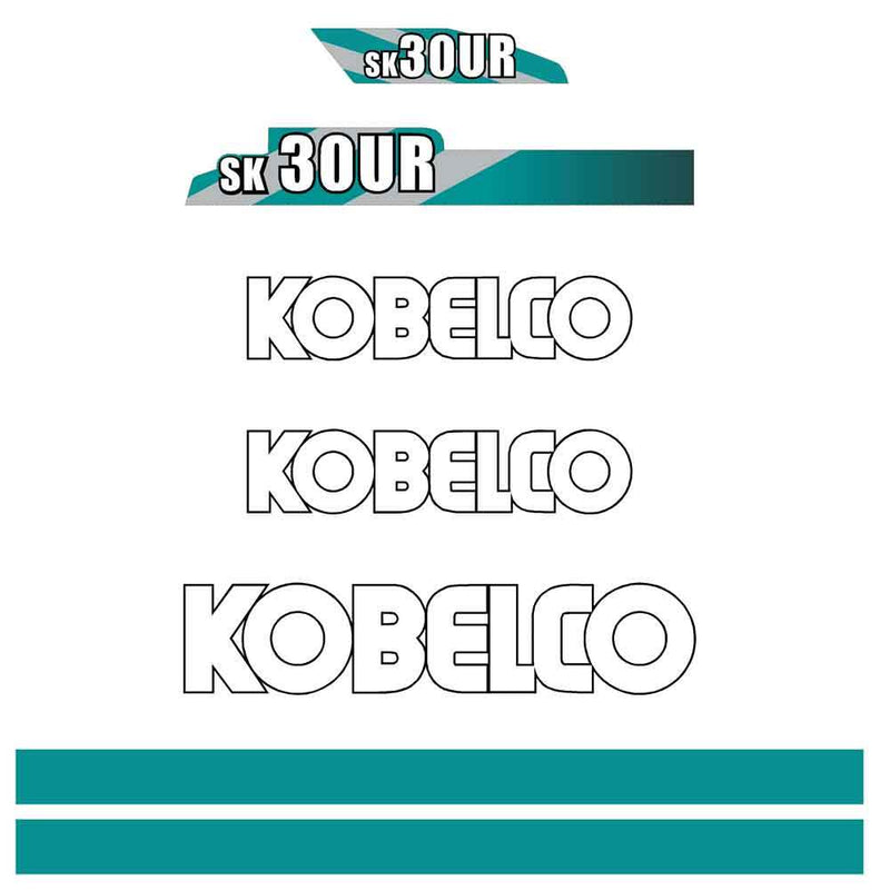Kobelco SK30UR Decal Sticker Set