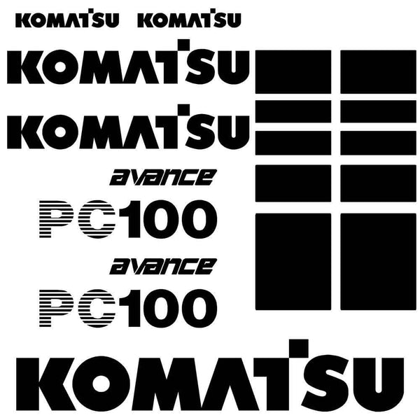 Komatsu PC100-6 Decal Sticker Set