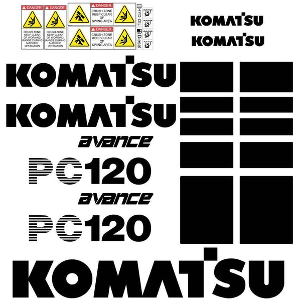 Komatsu PC120-6 Decal Sticker Set